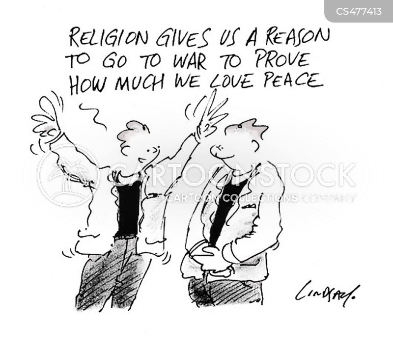 religious war cartoon