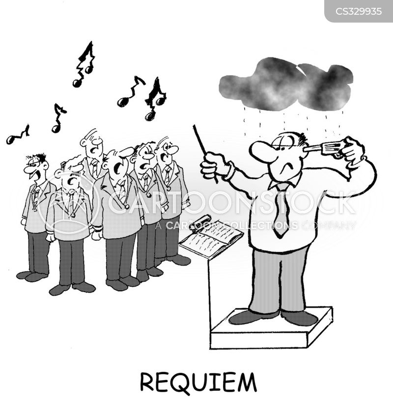 Requiem Cartoon, Requiem Cartoons, Requiem Bild, Requiem Bilder, Requiem Karikatur, Requiem Karikaturen, Requiem Illustration, Requiem Illustrationen, Requiem Witzzeichnung, Requiem Witzzeichnungen