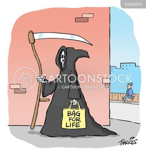 shopping bag cartoon