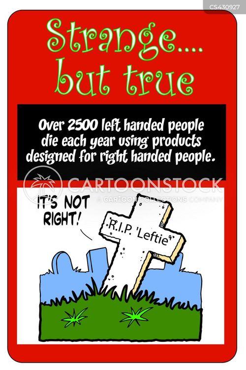 left-handed cartoon