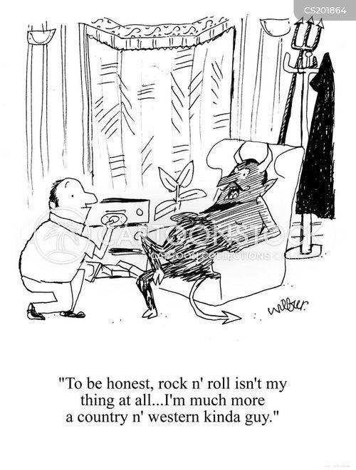 rocking cartoon