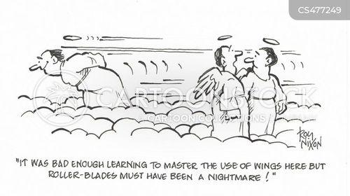 rollerblader cartoon