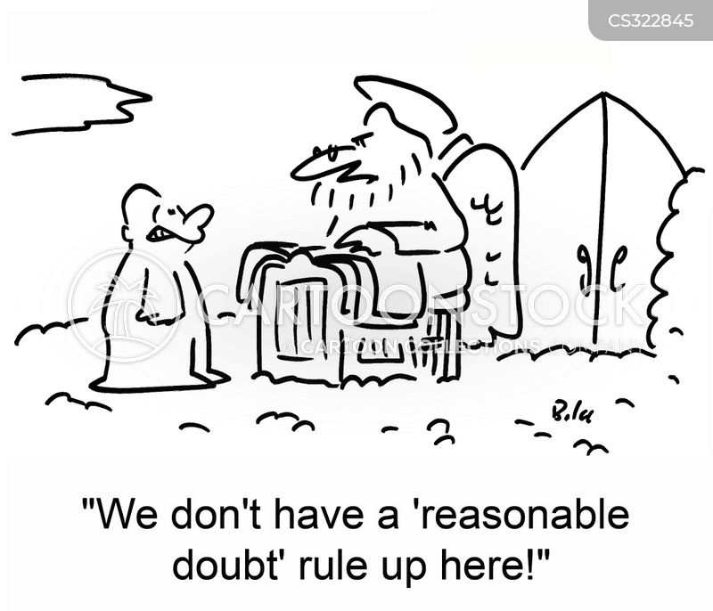 reasonable doubt cartoon