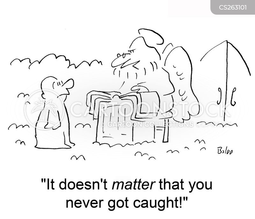 getting caught cartoon