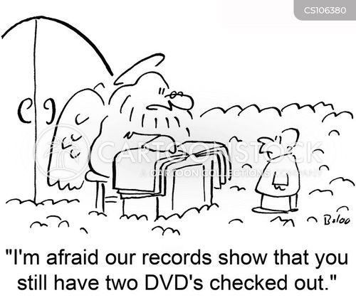 video rental cartoon