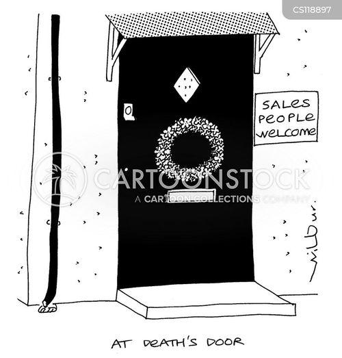 doorstep selling cartoon