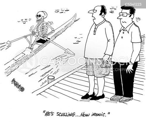 rowing boats cartoon