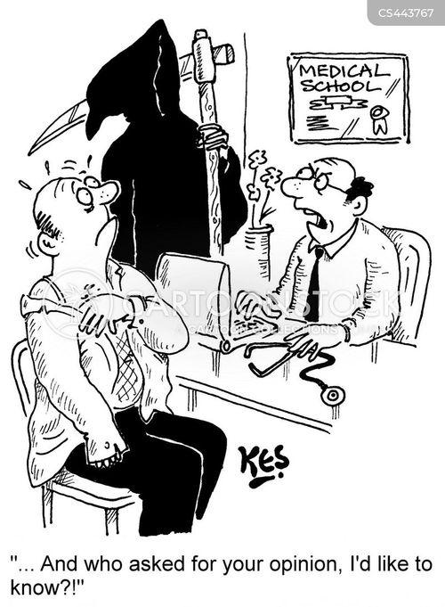 medical referrals cartoon