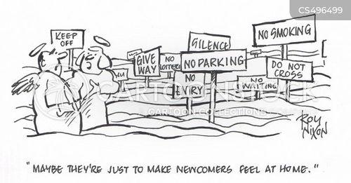 parking ban cartoon