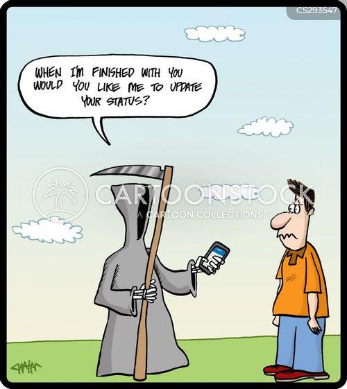 status updates cartoon