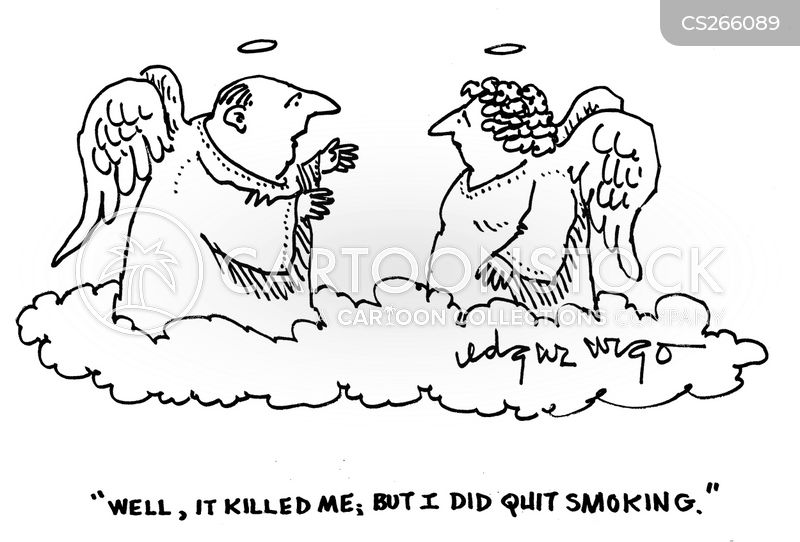 smoking addiction cartoon