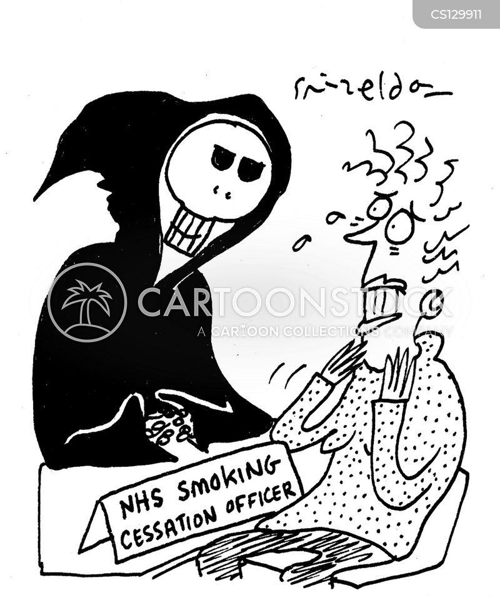 smoking cessation cartoon