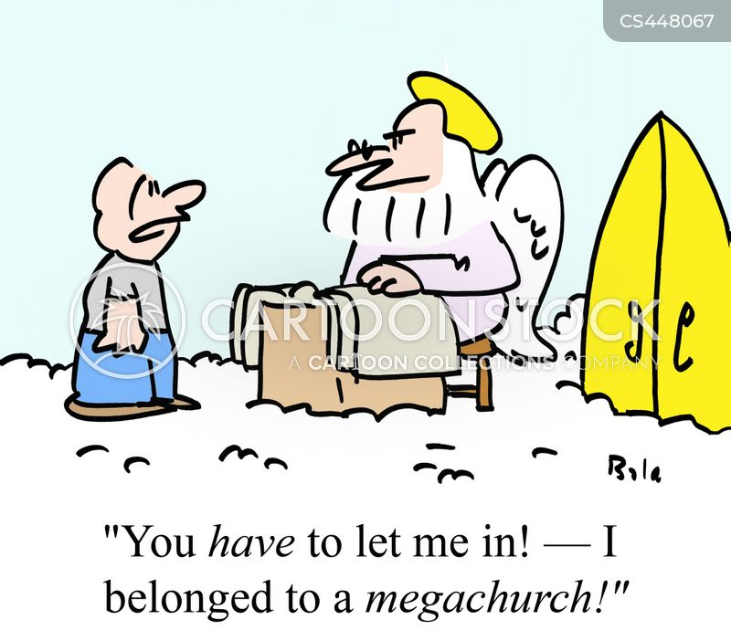 megachurches cartoon