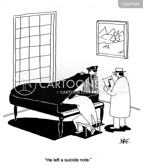 playing the piano cartoon