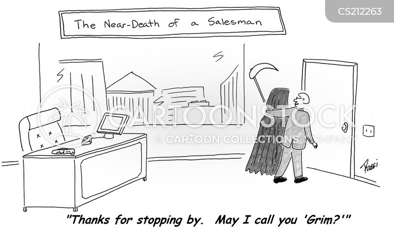 the death of a salesman cartoon