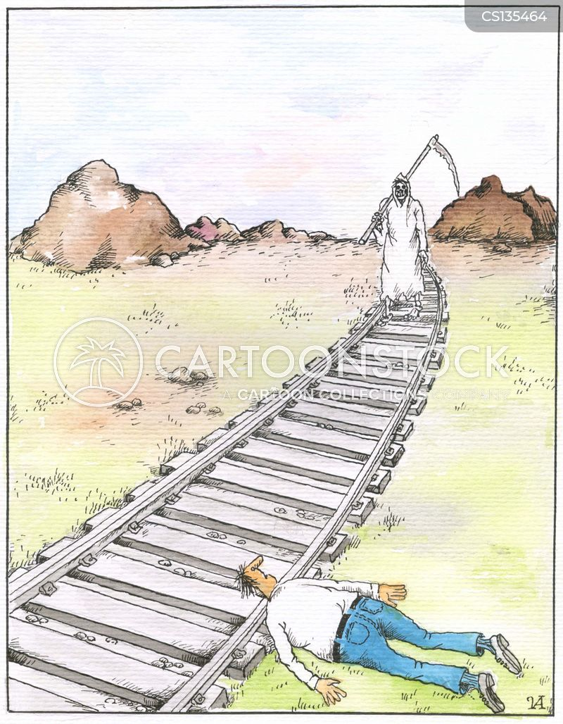 traintracks cartoon