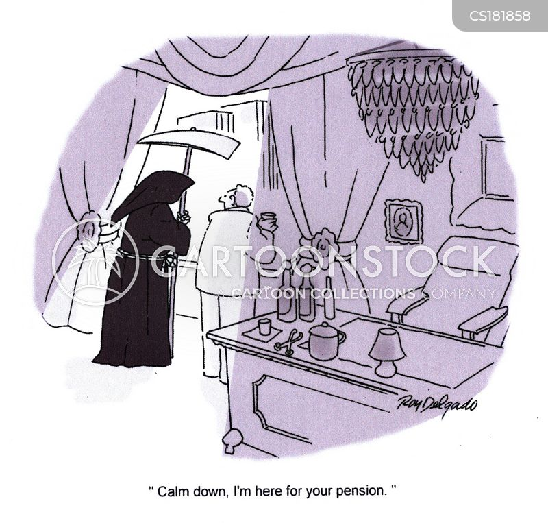 pension fund cartoon