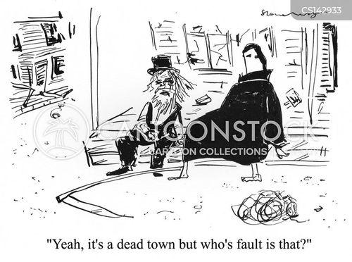 ghost town cartoon