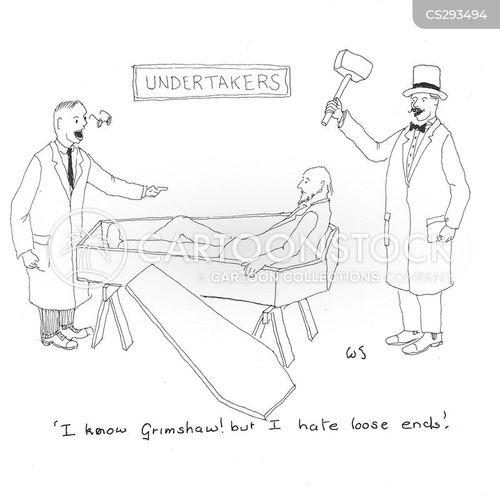 premature burial cartoon
