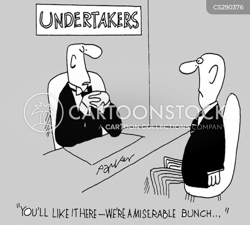 funeral parlors cartoon