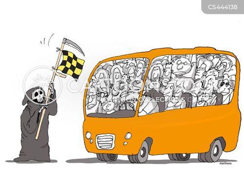 daily commute cartoon