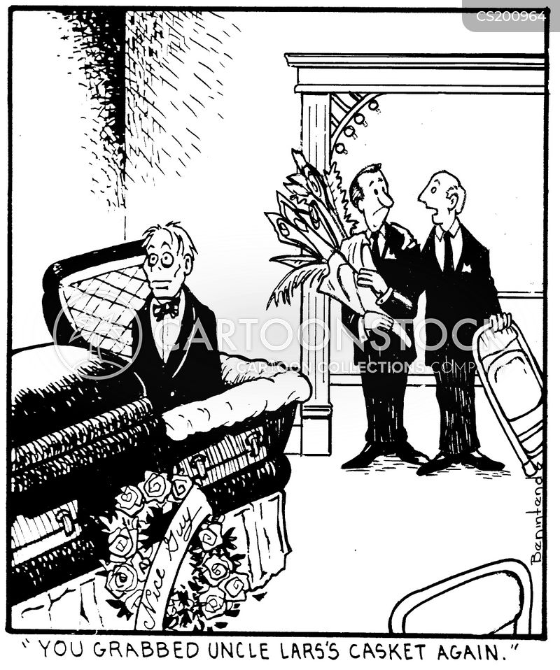 funeral homes cartoon