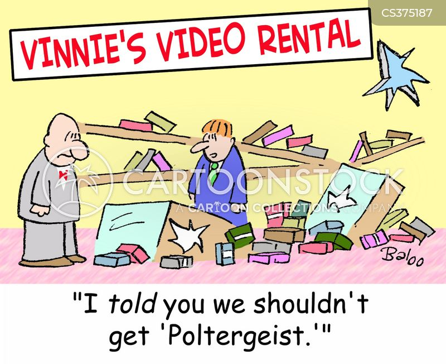 video stores cartoon