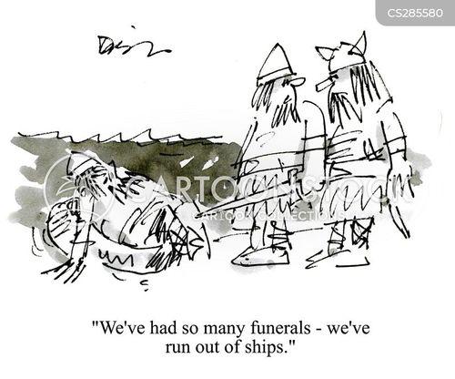 viking ships cartoon