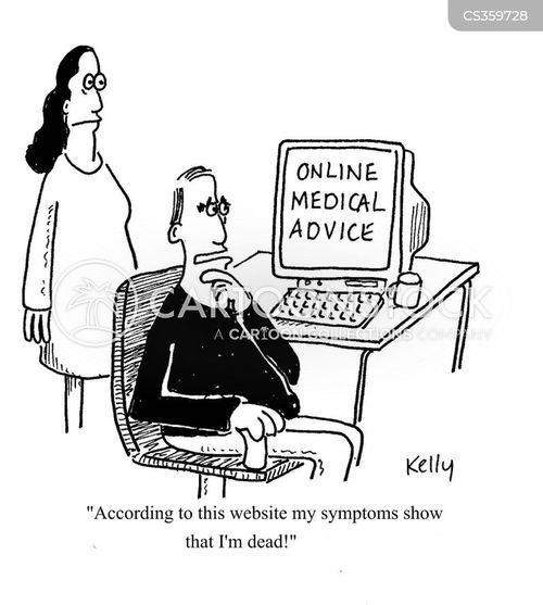 Online Medical Advice Cartoon 1 Of