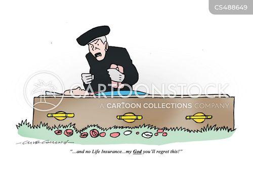 grieving widow cartoon