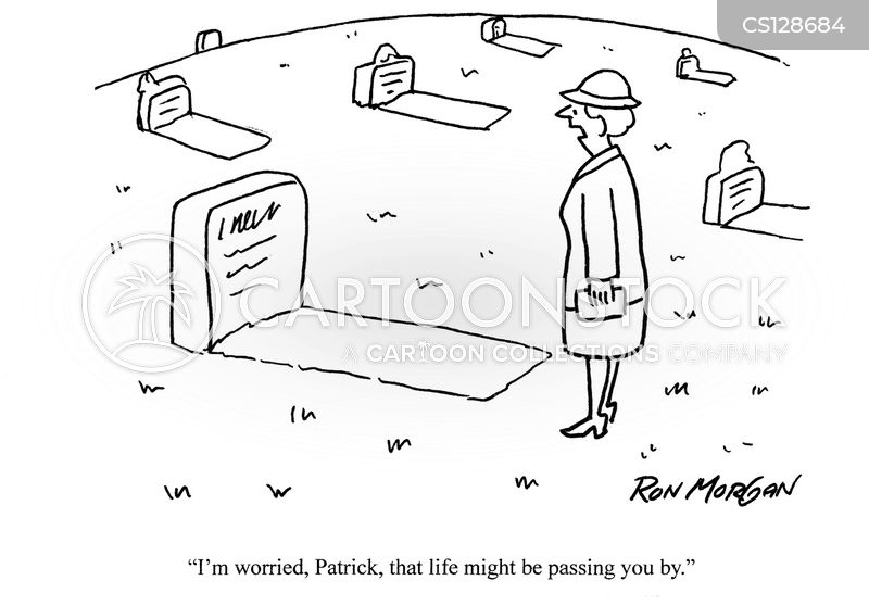 living life cartoon