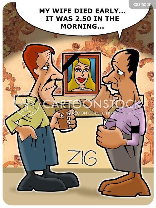 dead wife cartoon