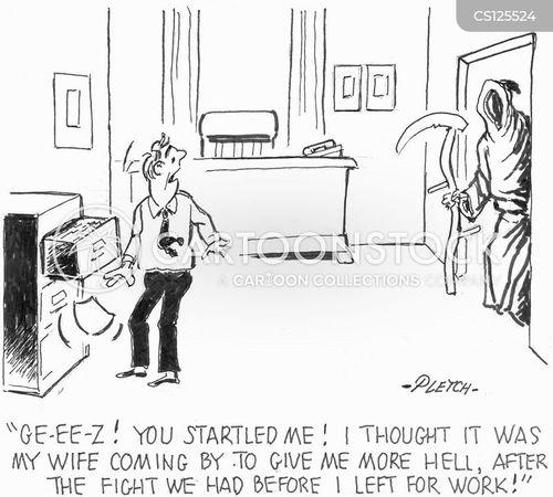 marital dispute cartoon