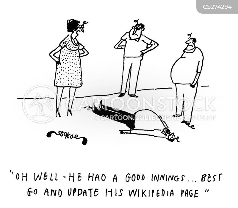 wikipedia page cartoon