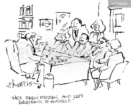 dead relative cartoon