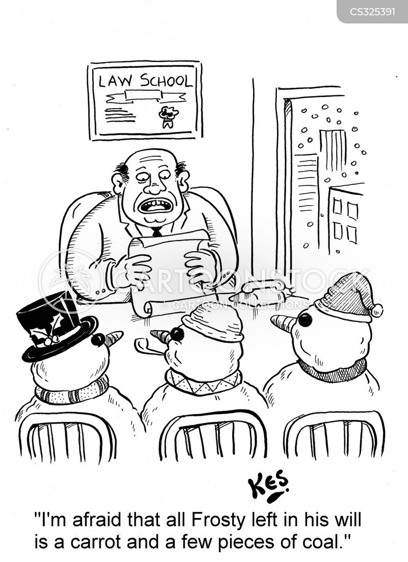 reading of the will cartoon