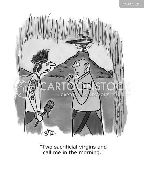 sacrificial victims cartoon
