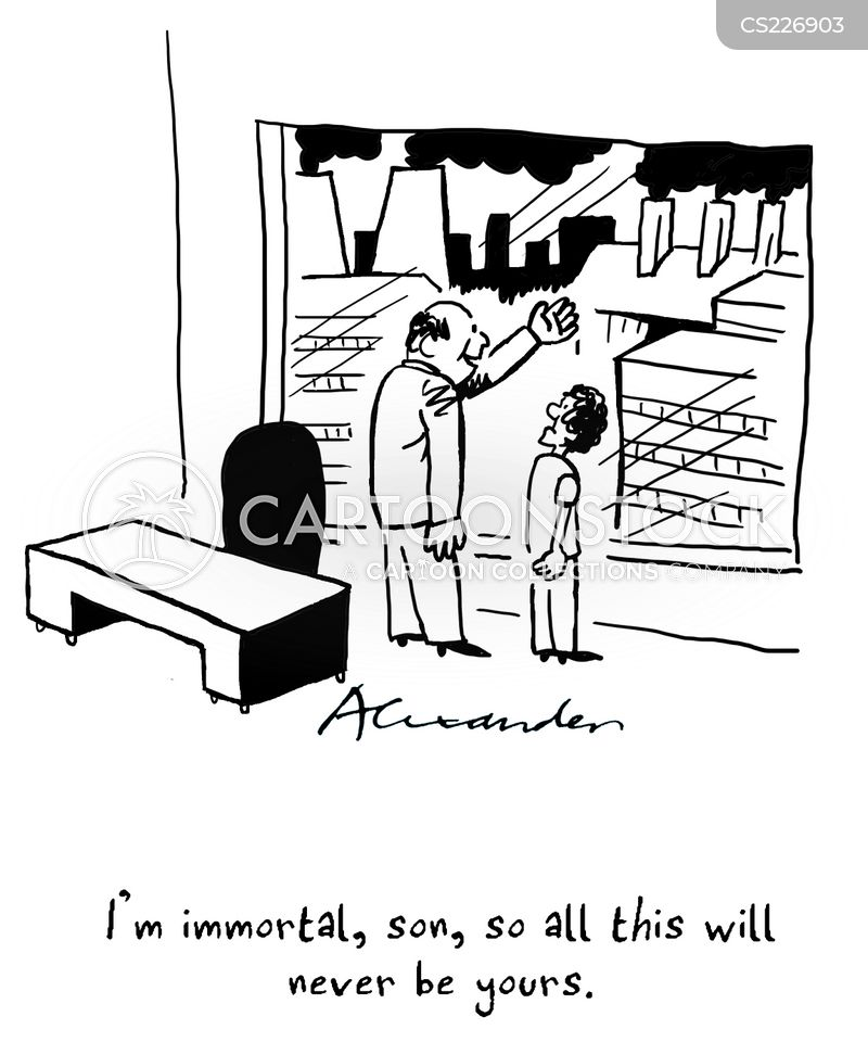 immortality cartoon