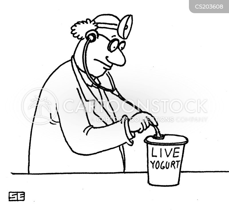 yoghurt cartoon
