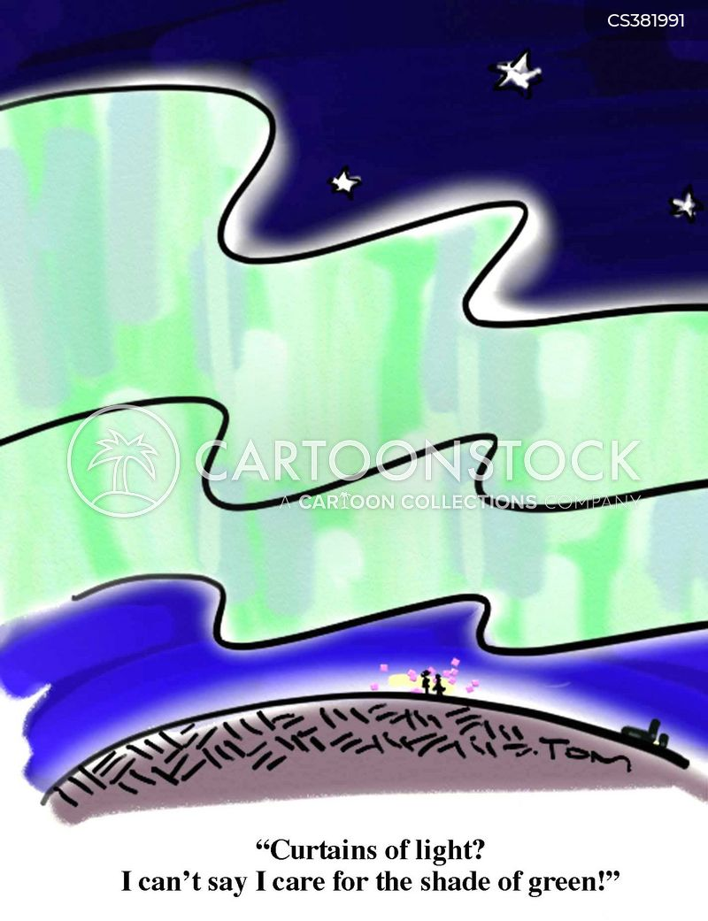 aurora borealis cartoon
