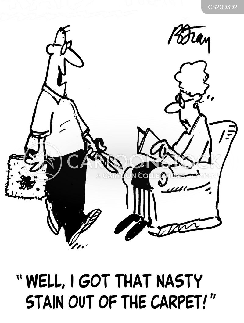Carpet stain cartoons and comics funny pictures from for Cartoon carpet