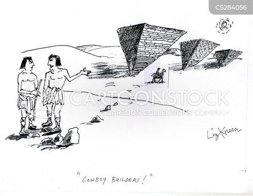 egyptian pyramids cartoon