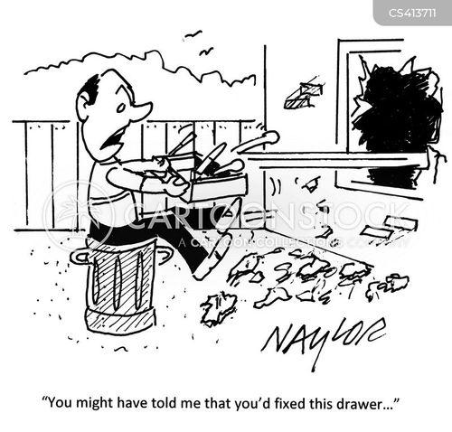 diy accident cartoon