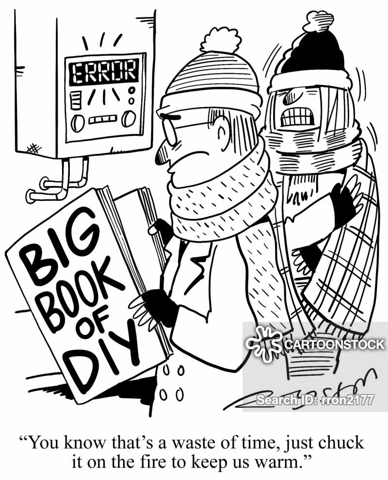 boiler repair cartoon