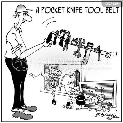 pocket knife cartoon