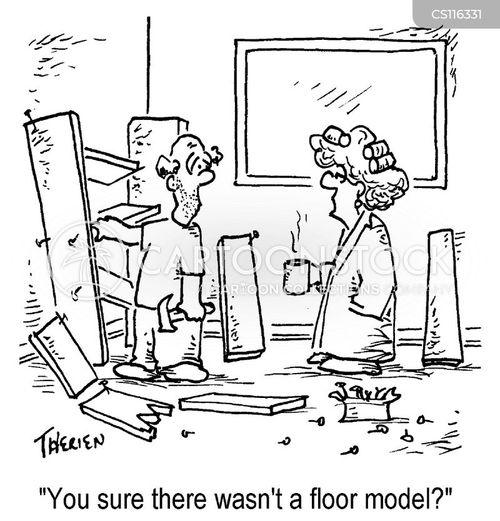 floor models cartoon
