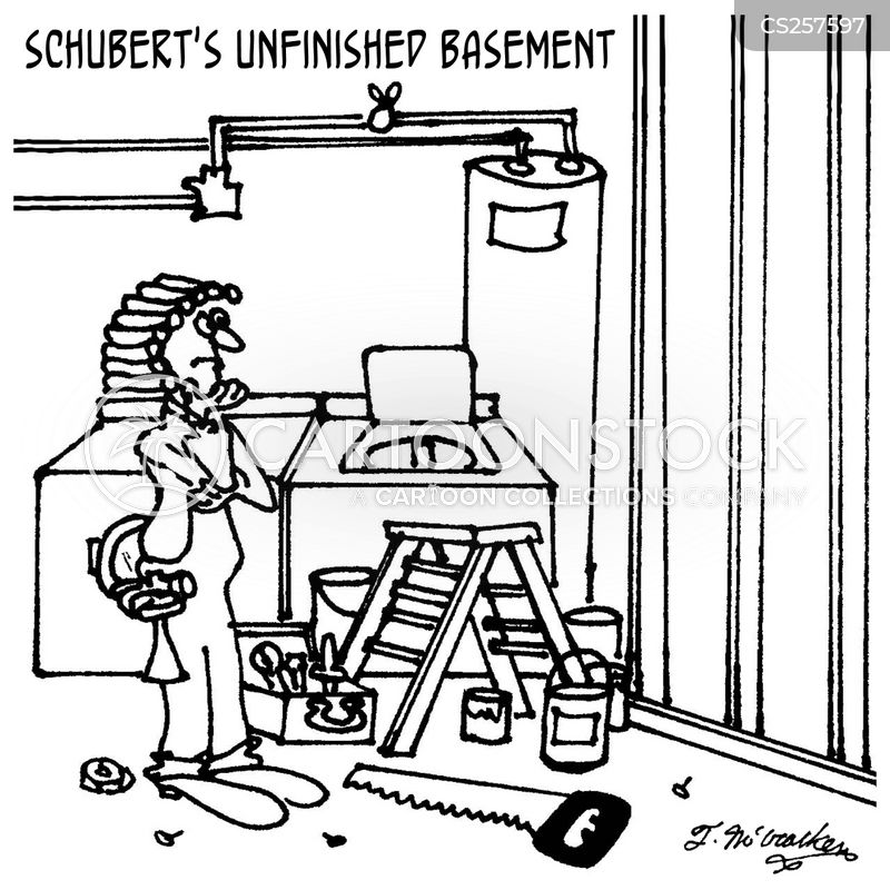 unfinished basement cartoon