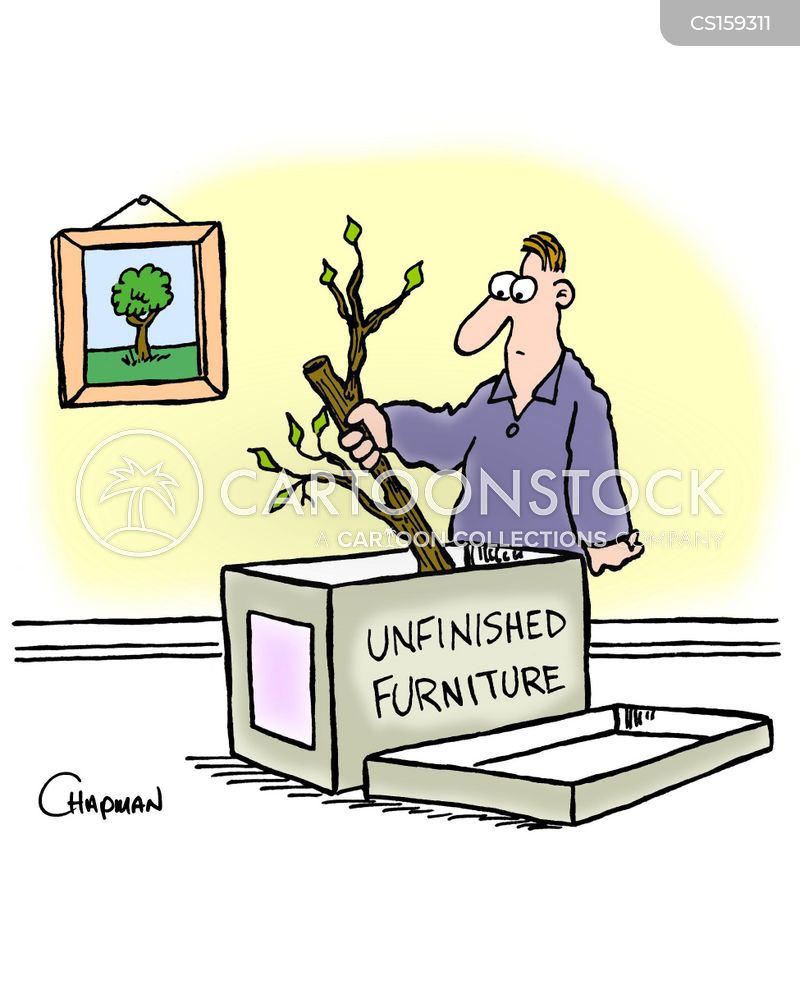 wooden furniture cartoon
