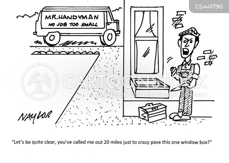 handy man cartoon