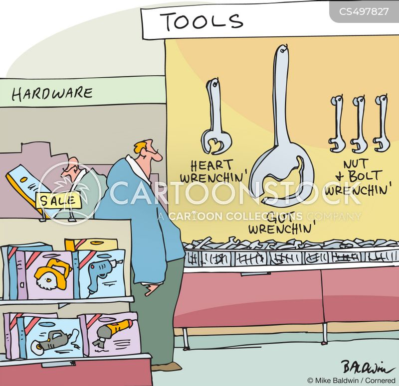 wrenches cartoon